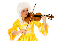 Baroque violinist Royalty Free Stock Images