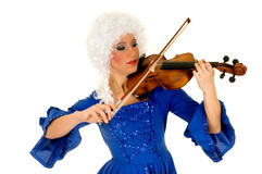 Baroque violinist Stock Photo