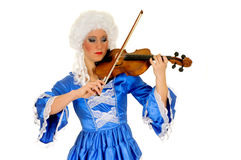 Baroque violinist Royalty Free Stock Photos