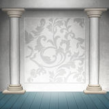 Baroque wall design Royalty Free Stock Image