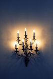 Baroque wall lamp stock image