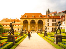 Baroque Wallenstein garden and palace in Prague Royalty Free Stock Images