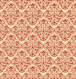 Baroque wallpapers. Brown seamless repeating baroque wallpaper Royalty Free Stock Images