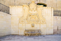 The baroque water well  in Valetta, Malta Royalty Free Stock Photos