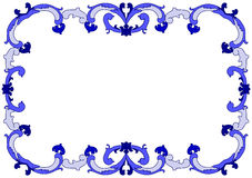 Baroque Waves Frame Border Royalty Free Stock Photos