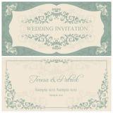 Baroque wedding invitation, brown Royalty Free Stock Photography