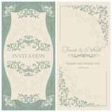 Baroque wedding invitation, brown Royalty Free Stock Photography