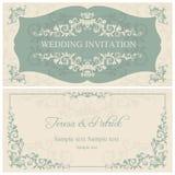 Baroque wedding invitation, brown Royalty Free Stock Photos