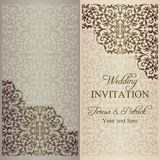 Baroque wedding invitation, patina Stock Images