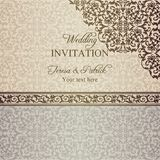 Baroque wedding invitation, patina Royalty Free Stock Photography