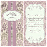 Baroque wedding invitation, pink and beige Stock Photography