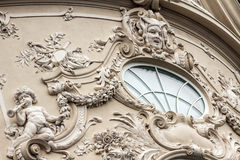 Baroque window at a historic building in Bratislava in Slovakia Royalty Free Stock Photography