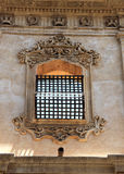 Baroque window with iron jalousie, detail Royalty Free Stock Photo