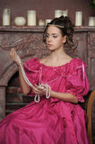 Baroque woman in historical costume Stock Photography