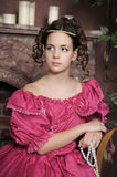 Baroque woman in historical costume Stock Images