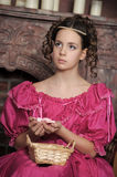 Baroque woman in historical costume Royalty Free Stock Photos