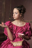 Baroque woman in historical costume Stock Photo