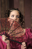 Baroque woman in historical costume Royalty Free Stock Images