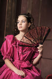 Baroque woman in historical costume Stock Image