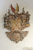 Baroque Wood Carving, Coats of Arms Royalty Free Stock Images