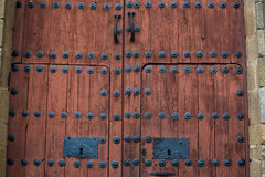 Baroque wooden door Royalty Free Stock Photos