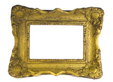 Baroque wooden picture frame Royalty Free Stock Photos