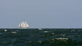 Barque Cuauhtémoc sailing in strong breeze Stock Photography