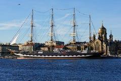 Barque Krusenstern w St Petersburg, Rosja Zdjęcia Stock