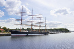 Barque Passat at the harbor of Lubeck-Travemunde. Steel barque Passat at the harbor of Lubeck-Travemunde stock photos