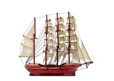 Barque ship gift craft model wooden Royalty Free Stock Photography
