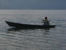 Barqueiro solitário Fotografia de Stock Royalty Free