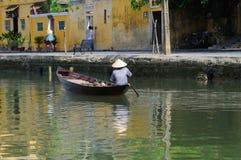 Barqueiro vietnamiano Fotos de Stock