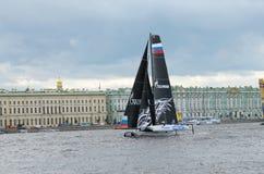 Barqueiros da competição no verão Imagens de Stock