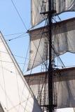 Barquentine jachtu olinowanie i żagle Zdjęcie Stock
