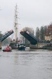 Barquentine Meridianas di simbolo della città di Klaipeda Fotografia Stock Libera da Diritti