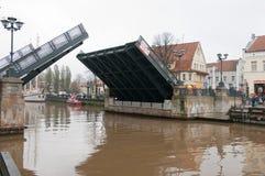 Barquentine Meridianas do símbolo da cidade de Klaipeda fotografia de stock