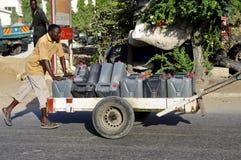 Barquero África imagen de archivo