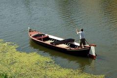 Barquero en Italia Imagenes de archivo