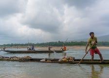 Barqueros en la acción Fotografía de archivo libre de regalías