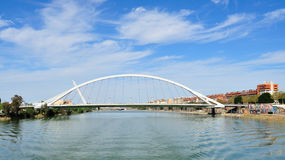 The Barqueta bridge of Seville Royalty Free Stock Photography