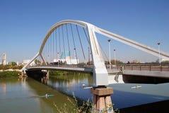 Barqueta most w Seville fotografia stock