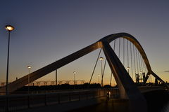 Barqueta s most w Seville Zdjęcia Royalty Free