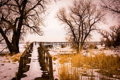 barr湖公园状态 库存图片