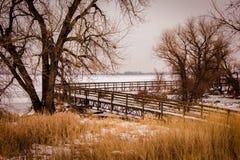 barr湖公园状态 免版税库存照片