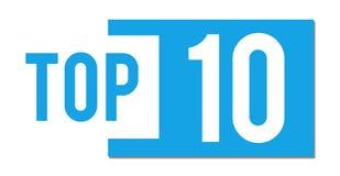 Barra abstracta azul del top 10 Fotos de archivo libres de regalías