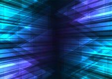 Barra azul de la velocidad y fondo abstracto del triángulo Imágenes de archivo libres de regalías