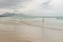 Barra Beach in florianopolis island in South Brazil. Royalty Free Stock Image