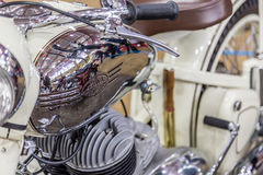 BARRA BONITA, BRASIL - 17 DE JUNHO DE 2017: Motocicleta de Jawa do vintage dentro Fotografia de Stock