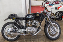 BARRA BONITA, BRAZILIË - JUNI 17, 2017: Uitstekende Honda-motorfiets i Royalty-vrije Stock Foto