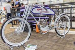 BARRA BONITA BRAZYLIA, CZERWIEC, - 17, 2017: Rocznik Harley-Davidson mo Obraz Stock